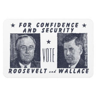 1940 Vote Roosevelt + Wallace, gray Magnet