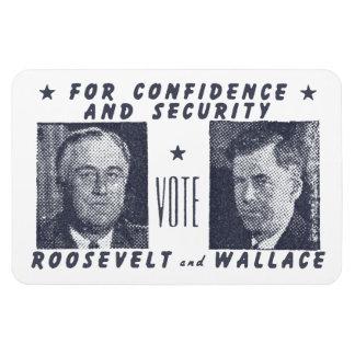 1940 Vote Roosevelt + Wallace, gray Rectangular Photo Magnet