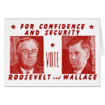 1940 Vote Roosevelt + Wallace, red Card