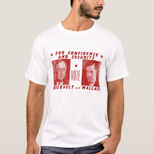 1940 Vote Roosevelt + Wallace, red T-Shirt