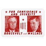 1940 voto Roosevelt + Wallace, rojo Imanes De Vinilo