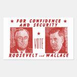 1940 voto Roosevelt + Wallace, rojo Rectangular Altavoz