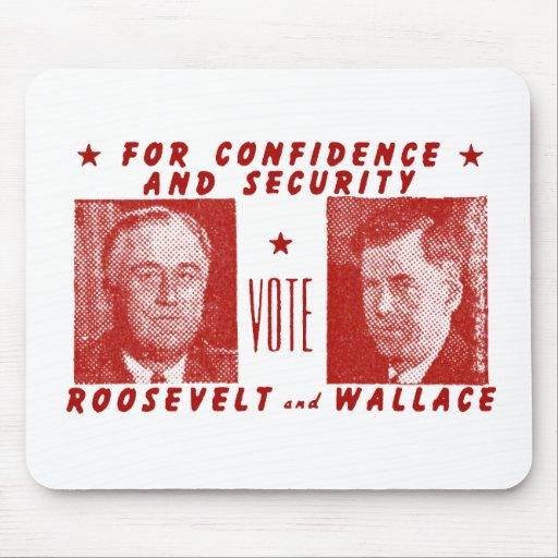 1940 voto Roosevelt + Wallace, rojo Alfombrilla De Ratones