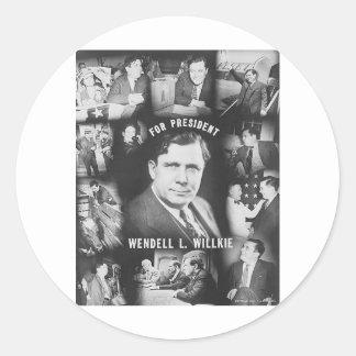 1940 Wendell Willkie Classic Round Sticker