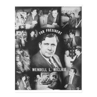 1940 Wendell Willkie Postcard