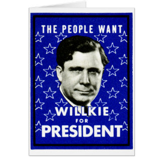 1940 WIllkie for President Card