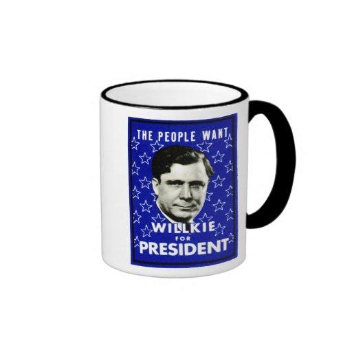 1940 WIllkie for President Mug
