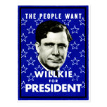 1940 WIllkie for President Postcards