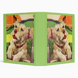 1940s adorable terrier dog binder
