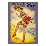 """1940s Bathing Beauty Funny Party Invitation 5"""" X 7"""" Invitation Card"""