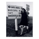 1940's California Woman Post Card