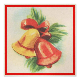 1940s Christmas Bells Card