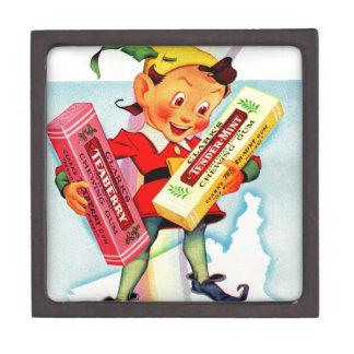1940s Clark's chewing gum elf Keepsake Box
