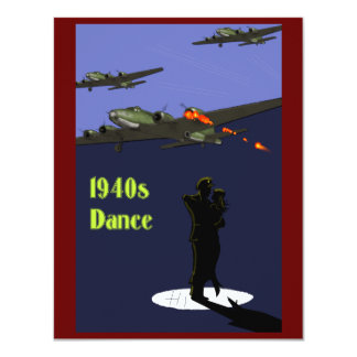 1940s Dance Invitations