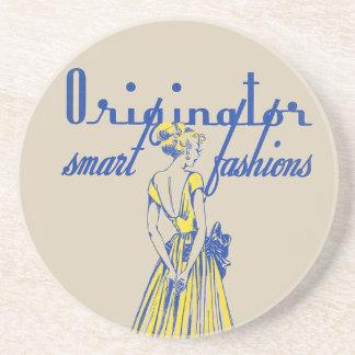 1940's Fashion Illustration Coaster