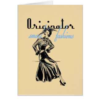 1940's Fashion Illustration Greeting or Note Card