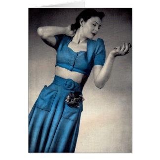 1940s fashion photo midriff style card