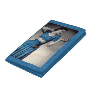 1940s fashion photo midriff style tri-fold wallet