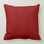 1940s Faux Cable Knit - Red Throw Pillow