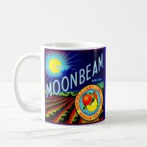 1940s fruit crate label Moonbeam brand citrus Coffee Mug