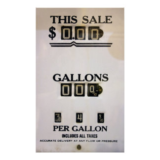 1940's GAS PUMP METER FACE Poster