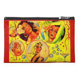 1940s glamour girls travel accessory bag
