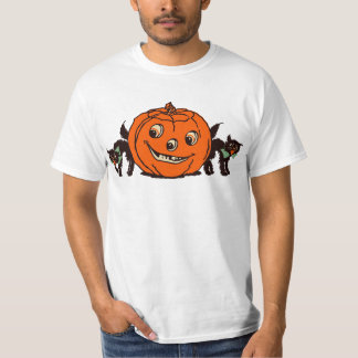 1940s Halloween Jack O'Lantern with Black Cats Tee