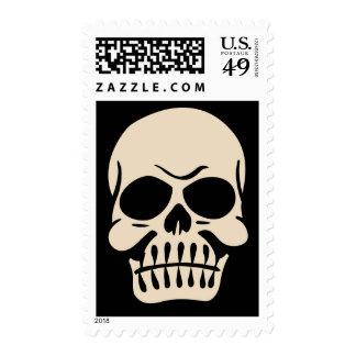 1940s Halloween Skull Stamps