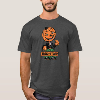 1940s Halloween Trick or Treat Jack O'Lantern T-Shirt