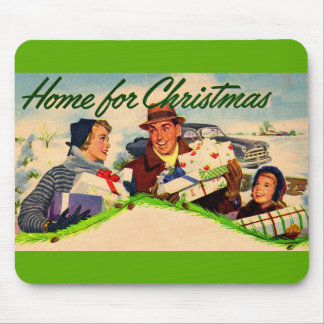 1940s Home for Christmas Mouse Pad