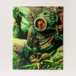 1940s illustration undersea diver jigsaw puzzle