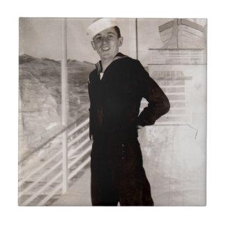 1940s jaunty sailor tile