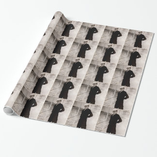 1940s jaunty sailor wrapping paper
