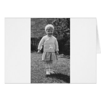 1940's Little Girl Dressed Up Card