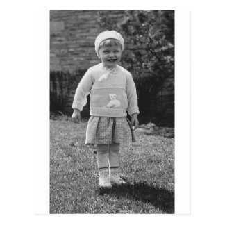 1940's Little Girl Dressed Up Postcard