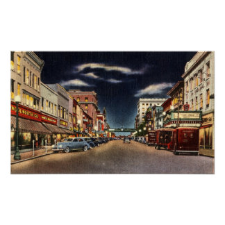 1940s Norristown's Main St Poster