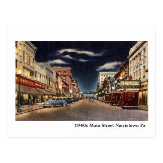 1940s Norristown's Main Street Postcard