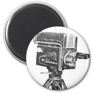 1940's or 1950's Broadcast Studio TV Camera 2 Inch Round Magnet