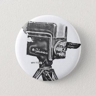 1940's or 1950's Broadcast Studio TV Camera Pinback Button