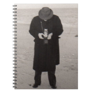 1940s photographer on the beach spiral note books