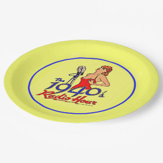 1940s Radio Hour Paper Plate