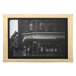 1940s Restaurant Placemat (tan border)