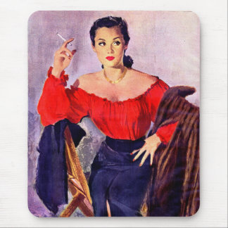 1940s sexy femme fatale mouse pad