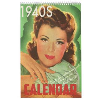 1940s Style Wall Calendar