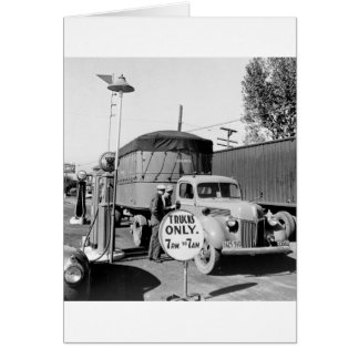 1940s Truck Stop Greeting Card