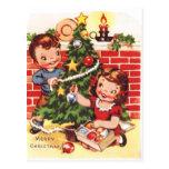 1940s Vintage Merry Christmas Postcard