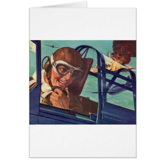 1940s WWII dogfight in the air Card