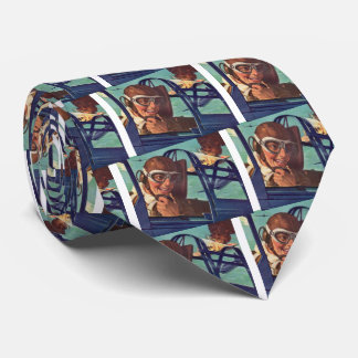 1940s WWII dogfight in the air Neck Tie