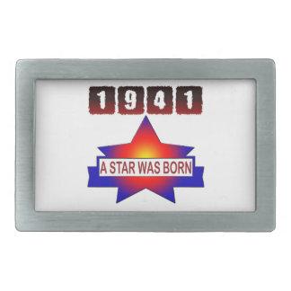 1941 A Star Was Born Rectangular Belt Buckle