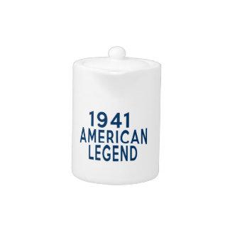 1941 American Legend Birthday Designs Teapot